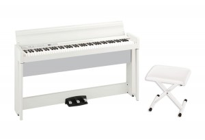 KORG C1 Air WH pianino cyfrowe + KORG PC110 WH stołek do pianina